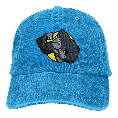 DSSYEAH Gorila Monkey Bodybuilder Gorras De Béisbol Ajustables Unisex Sombreros De Mezclilla Cowboy Sport Outdoor