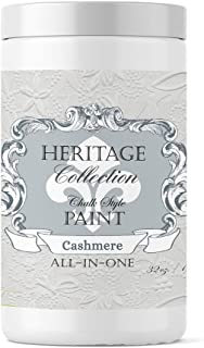 Heritage Collection All in One Chalk Style Paint-Cashmere (White) 32oz Quart