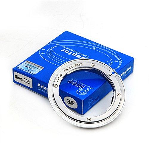 Pixco EMF - Adaptador de alta precisión para objetivo Nikon F a Canon EOS EF 6D 5D 7D 70D 60D 50D 40D 30D 100D 700D 650D 600D 550D