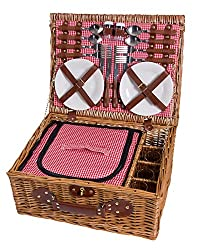 Picnic basket for 4 people with a cooling compartment