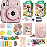 Fujifilm Instax Mini 11 Camera Blush Pink + Fuji Instant Instax Film (40 Sheets) & Includes Carrying Case + Assorted Frames + Photo Album + 4 Color Filters and More Top Accessories Bundle