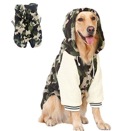 Oncpcare Camo Sleuth Hond Hoodie voor de winter, Gewatteerde Hond Jas voor Medium en Grote Hond, 2 Benen Warm Katoen Huisdier Kleding Hond Jumpsuit Past Retriever Husky, 6XL