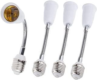 E26/E27 Light Bulb Socket Extender Adapter, E26/E27 To E26/E27 Flexible Extension, All-Directional Light Adjustable Converter For A19 Led Lamp,Recessed Spotlight Etc. (4-Pack)