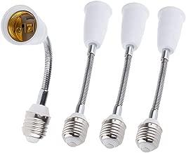 27.5CM//10.82IN Extension Standard Medium E26 Screw Base 165℃ Heat-resistant No Fire Hazard Maximum Wattage 200W Bendable Socket Extender Adapter of 2-Pack DiCUNO E26 to E26 Socket Extender