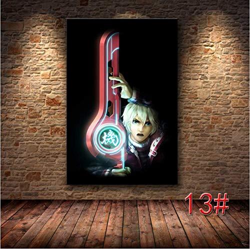 N/P Xenoblade Chronicles 2 Classic Video Game HD Poster Canvas Home Room Wall Art Impresión Decoración Canvas Printing Anime Poster 50 * 70 Cm Sin Marco