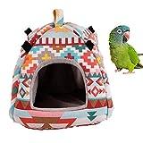 Vogelnest Hängematte Zelt Bett Spielzeug für Sittiche Nymphensittiche Graupapageien Kanarienvögel kleine mittelgroße Papageien Hamster Ratte Chinchilla-Käfig Sitzstangen