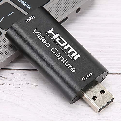 banapo Videoaufnahmekarte USB 2.0 / 4K / Recorder für Video Live Streaming/Spiel Black GS