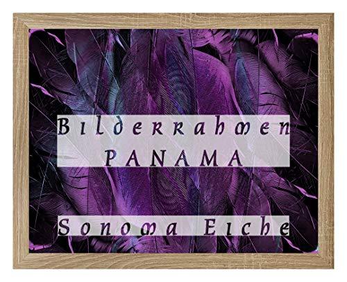 Homedecoratie fotolijsten Panama 100 x 140 cm in Sonoma eiken decor met stabiele 2 mm antireflex met grootte keuze