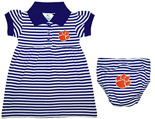 Clemson University Tigers Striped Game Day Dress with Bloomer Purple