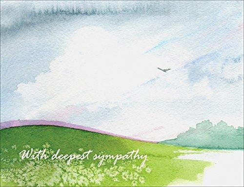 Sympathy Cards–con profonda simpatia Peace–Set di 12biglietti di condoglianze note bianchi e buste