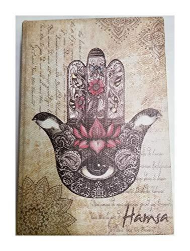 MR Caja de Madera en Forma de Libro Mano DE Fatima,Hamsa, 18X12 cm