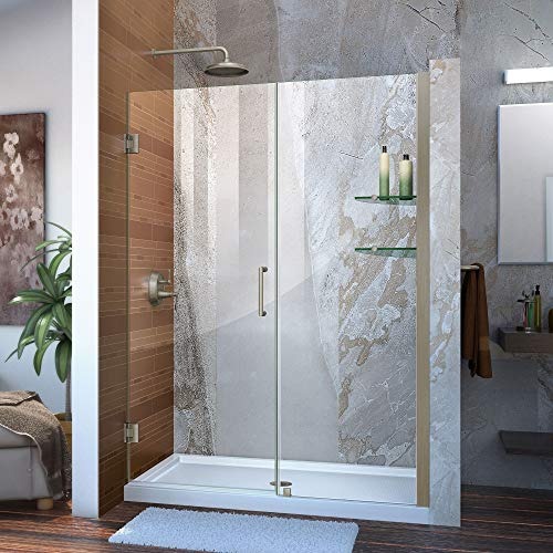 DreamLine Unidoor 51-55 in. Frameless Hinged Shower...
