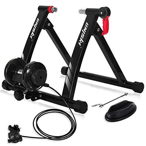 unisky Entraîneur de Vélo Réglable avec Contrôle de Fil, 26'-29' ou 700C, Home Trainer Vélo à Résistance Magnétique à 6 Vitesses pour Vélo de Route et de Montagne