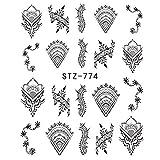 Línea de tinta Máscara Nail Art Watermark Sticker Nail Art Sticker Manicure Tool-Multi-color STZ-774