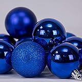 Arcoiris® Bolas de Navidad Multicolor, Azul 6 Unidades de 8 CM, para Decoración de...