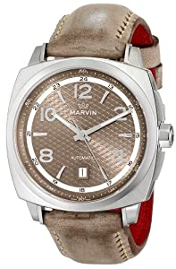 Marvin Men's M119.13.84.68 'Malton 160' Stainless Steel and Leather Automatic Watch