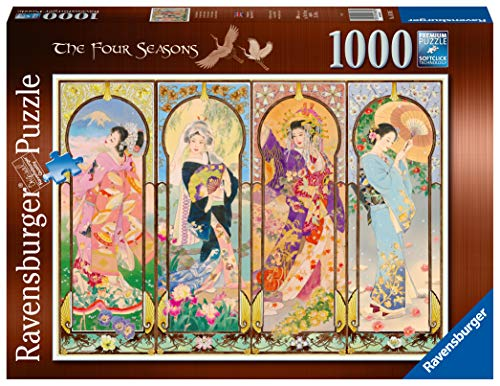Ravensburger Puzzle, Puzzle 1000 Piezas, Las cuatro estaciones, Puzzles para Adultos, Puzzle Arte, Rompecabezas Ravensburger