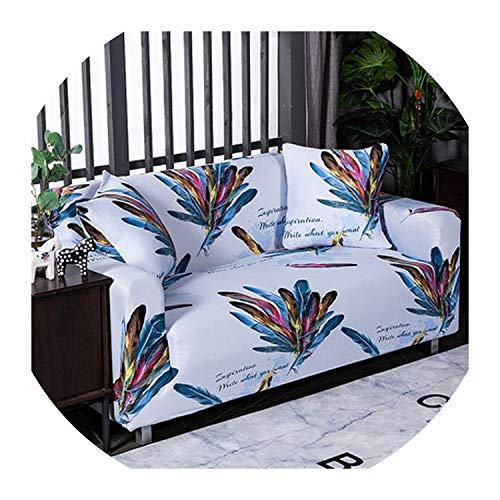 Nihaoma Feder-Muster-Sofa-Abdeckung Slipcover Sofa für Sofa Handtuch Wohnzimmer Möbel Protective Sessel Couches Sofa,1,1-Sitz und 1-Sitz