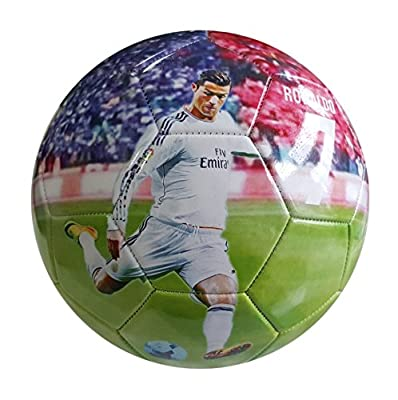 iSport Gifts Cristiano Ronaldo #7 Madrid Kids Soccer Ball ? Size 5 for Kids & Adult ? Premium Gift Youth Soccer Ball ? Unique Design ? Durable Soft Construction (Size 5, Ronaldo #7)
