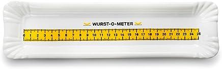 Preisvergleich für DONKEY Products Porzellanteller BBQ Plate, Wurst-O-Meter, Grillteller, Grillplatte, Porzellan, 30x8.5 cm, 210123