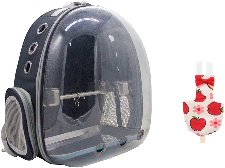 Baosity Pet Parred Outdoor Supply Kit,Adjustable Flight Suit Parred Diaper(L) & Parred Travel Carrier Backpack