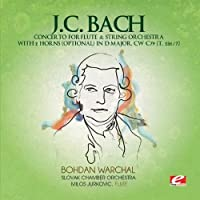 J.C. Bach: Concerto for Flute & String Orchestra with 2 Horns (optional) in D Major, CW C79 (T. 286/7) (Digitally Remastered) by Johann Christian Bach (2013-06-28)