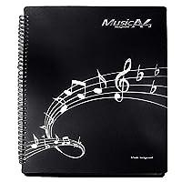 楽譜ファイル 書込みOK リング式 バンドファイル 30ポケット A4サイズ 60ページ (ブラック)