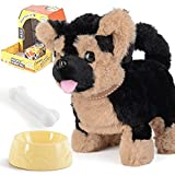 Walking Dog Toys,Barking Puppy Pet Dogs,Walking, Barking,Wagging Tails,Interactive Toy Dogs For Kids,Cultivating Children To Love Animals Since Childhood,The Best Gift To Accompany Your Child's Growth