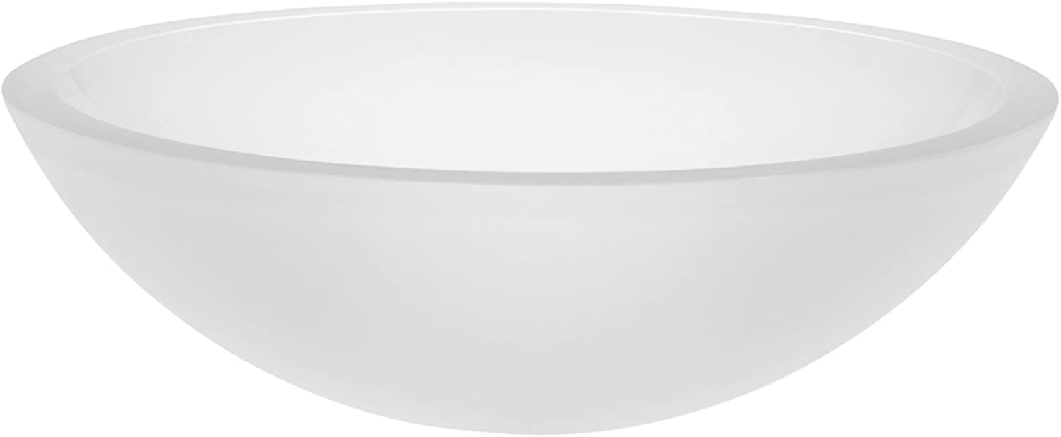 Decolav 1019T-FCR Translucence Tempered Glass Vessel Sink, Frosted Crystal by Decolav