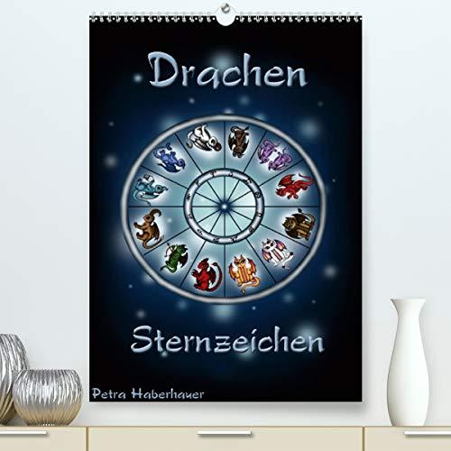 Drachen-Sternzeichen (Premium, hochwertiger DIN A2 Wandkalender 2021, Kunstdruck in Hochglanz)