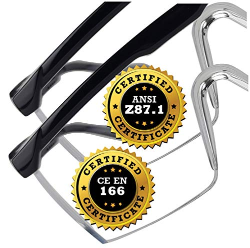 Eye Protection Safety Glasses - 2 Clear Pair - Comfort Eyewear with our SuperLite and SuperClear Lens Technology…