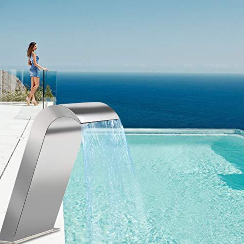 Fuente de la piscina en cascada al aire libre, Fuente de estanque...