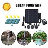 HoSayLike 2020 Fuente Solar Bomba PequeñA Piscina Piscina Patio JardíN Fish Tank Acuarios Al Aire Libre Fuente con 4 Boquillas DecoracióN del JardíN 1.4W