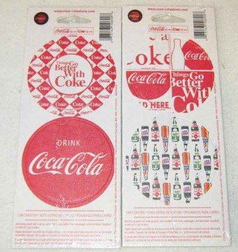 Set di 8 sottobicchieri in carta spessa sigillati per tavolo auto Coca-Cola