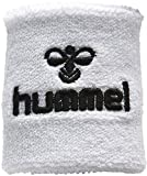 Hummel muñequera para el sudor, estilo Old School, pequeña - talla única, blanco, 95% algodón /...