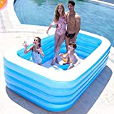 YYGQING Piscina Inflable 1 5/1 8/2/2 6/3 05m 3/4 Capas engrosadas Outdoor Summer Water Games Pools inflables Piscina (Color : 3.05M 3 Layers)
