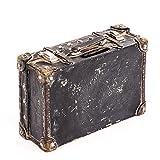 HausderHerzen Hucha con forma de maleta en negro y marrón de polirresina Hucha para ahorrar dinero