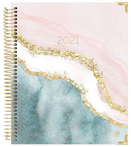 "bloom daily planners 2021 Hardcover Calendar Year Goal & Vision Planner (January 2021 - December 2021) - Monthly/Weekly Column View Agenda Organizer - 7.5"" x 9"" - Daydream Believer"