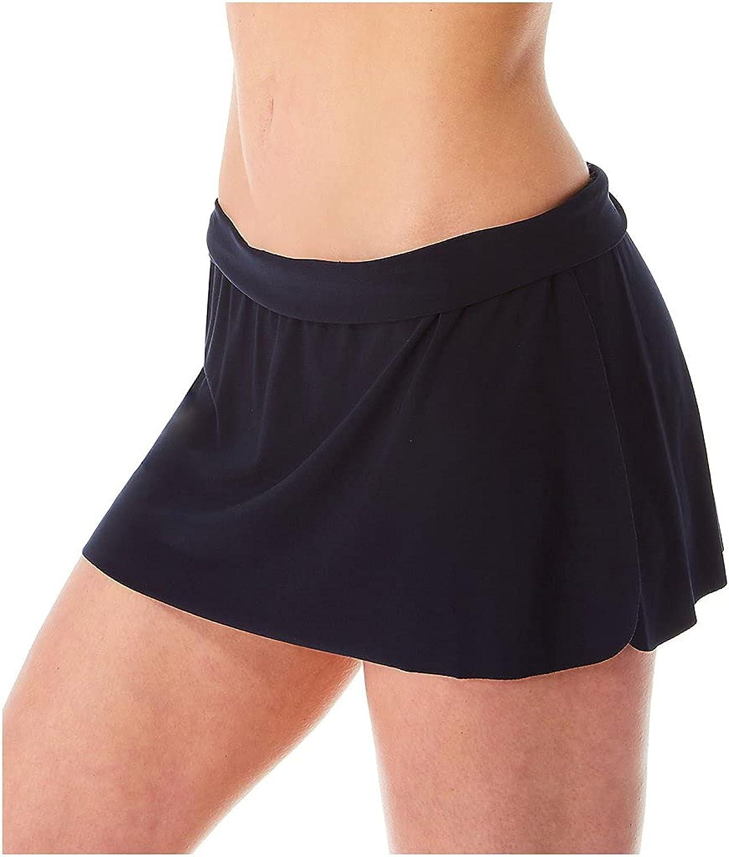 Magicsuit Women's Jersey Tennis Skirt Full Coverage Swim Bottom with No-Show Waistline