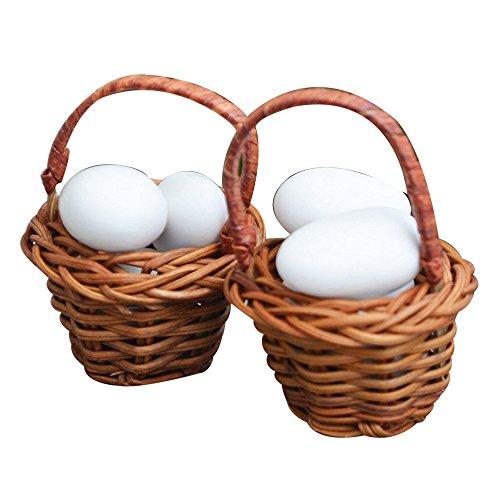 20piezas cestas de mimbre, mini cesta para peladillas, para decoración a tema natural