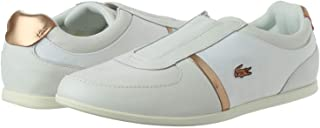Lacoste Rey Fashion Sneakers Shoes For Women, Size 38 EU, White and Gold
