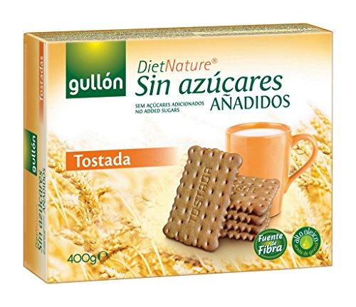 Gullón Tostada Diet Nature Galleta Desayuno y Merienda sin Azúcares Añadidos - Paquete de 2 x 200 gr - Total: 400 gr