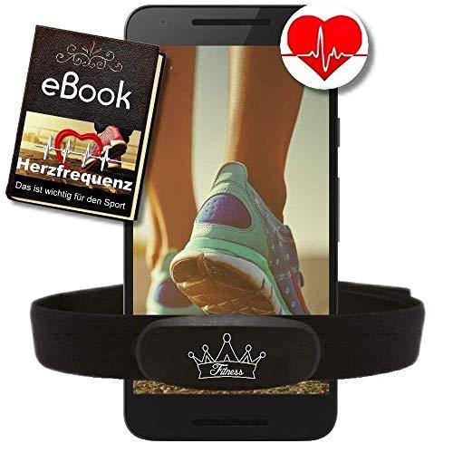 BerryKing Heartbeat Dual Herzfrequenz Ant+ Bluetooth Low Energy Echtzeit + Gratis Ebook - kompatibel zu Garmin Wahoo Polar RUNTASTIC Strava ENDOMONDO Tomtom iPhone Brustgurt