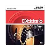 D'Addario EJ12 Juego de cuerdas para guitarra acústica de bronce, 013' - 056'