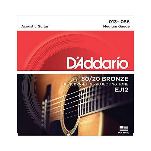 D'Addario EJ12 Set Corde Acustica EJ 80/20 BRZ RND WND