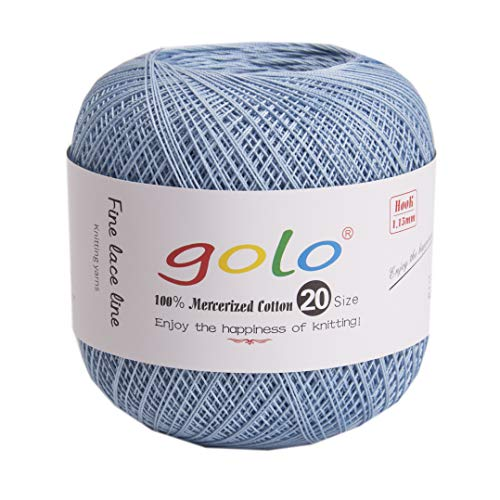 golo Crochet Thread Yarn for Hand Knitting Size 20 (8-700) Light Red