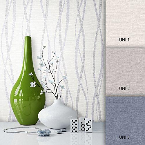 NEWROOM Tapete Grau Streifen Linien Modern Vliestapete silber Vlies moderne Design Optik Streifentapete Landhaus inkl. Tapezier Ratgeber