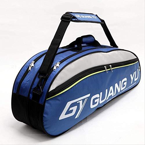 ASDF 6 borse da tennis di grande capacità, borse da badminton, borsone per attrezzature sportive, impermeabili, adatte per professionisti o principianti (blu)
