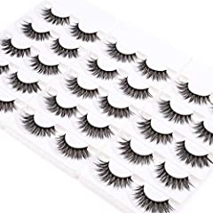 100% Brand New 3D Silky Synthetic False Eyelashes. 100% Handmade, Natural Looking, Lightweight. Flexible Band and Softer, Comfortable Wear. Suitable for Makeup or Home Use, Easy Apply. 5 Pairs on 1 Pack, 3 Pack in 1 Box, Total 15 Pairs/Box.