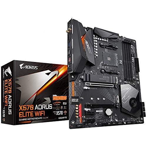 GIGABYTE X570 AORUS Elite Wifi (AMD Ryzen 3000/X570/ATX/PCIe4.0/DDR4/Intel Dual Band 802.11AC WIFI/Front USB Type-C/RGB Fusion 2.0/M.2 Thermal Guard/Gaming Motherboard)